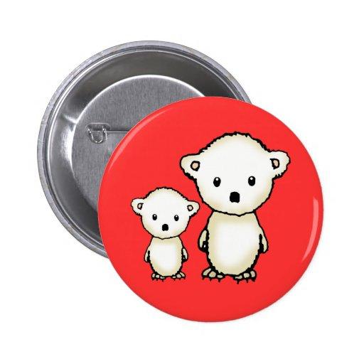Pequeño botón lindo del navidad de los osos polare pins