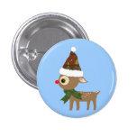 Pequeño botón lindo del reno pins