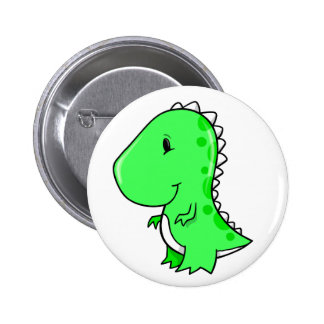 Pequeño botón lindo estupendo del dinosaurio pin redondo de 2 pulgadas