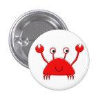 Pequeño botón rojo del cangrejo pins