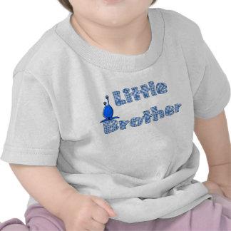 Pequeño Brother comprobado azul y camiseta extranj