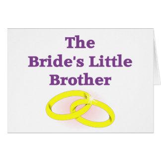 Pequeño Brother de la novia Felicitaciones