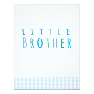 Pequeño Brother en azul Invitación 10,8 X 13,9 Cm
