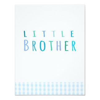 Pequeño Brother en azul Comunicados Personalizados