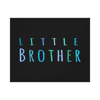 Pequeño Brother en azul Lona Estirada Galerías