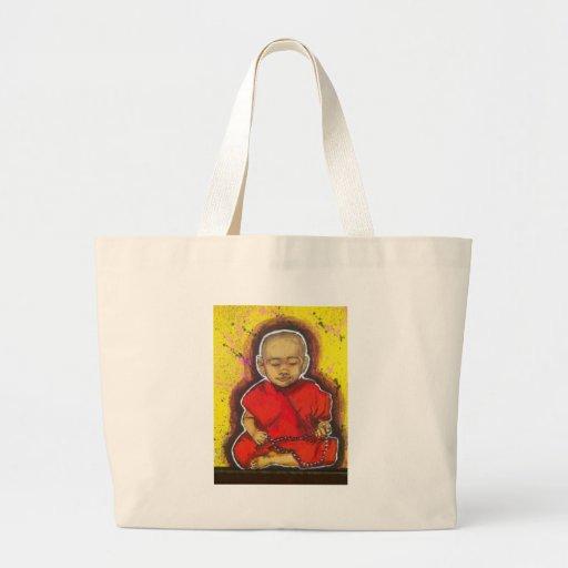 Pequeño Buda Bolsa Tela Grande