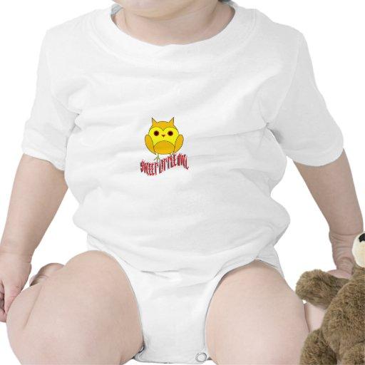 Pequeño búho dulce trajes de bebé