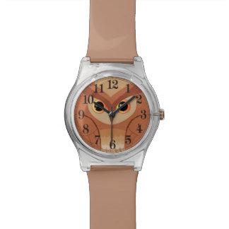 Pequeño búho marrón relojes de mano