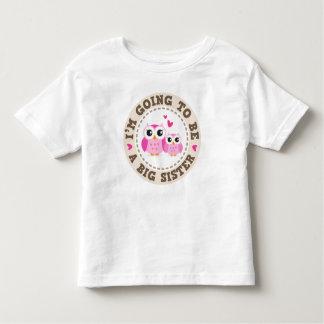 Pequeño búho rosado lindo Im que va a ser una Playera De Bebé