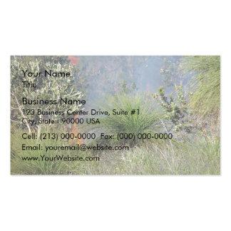 Pequeño bushfire tarjetas de visita
