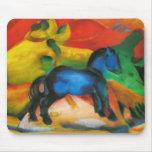 Pequeño caballo azul Mousepad