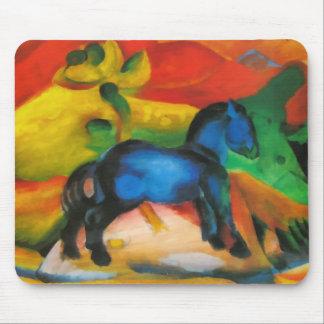 Pequeño caballo azul Mousepad Tapetes De Raton