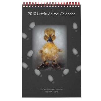 Pequeño calendario animal 2010