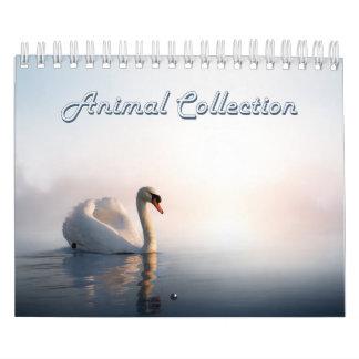 Pequeño calendario de la colección animal