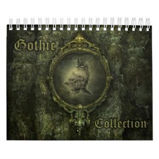 Pequeño calendario de la colección gótica