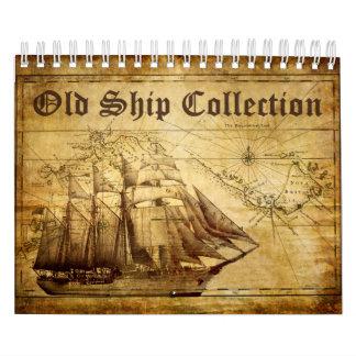 Pequeño calendario de la vieja colección de la
