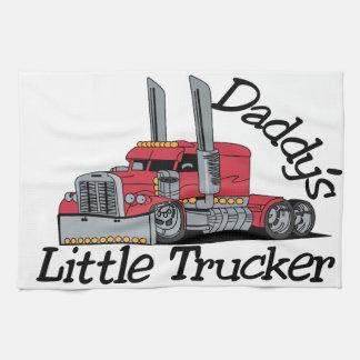 Pequeño camionero de Daddys Toallas De Mano