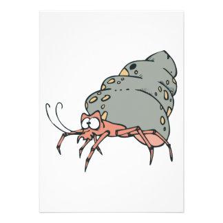 pequeño cangrejo de ermitaño lindo comunicado personalizado