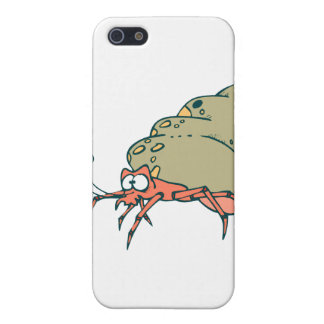pequeño cangrejo de ermitaño tonto iPhone 5 carcasas