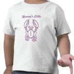 Pequeño cangrejo de la púrpura del cangrejo de la camisetas