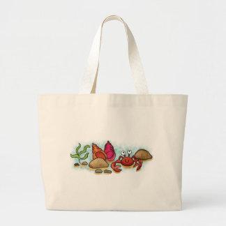 Pequeño cangrejo feliz bolsas