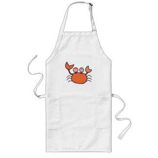 pequeño cangrejo lindo delantal largo