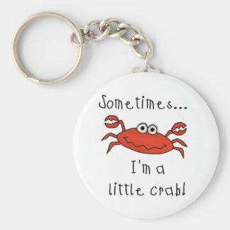 Pequeño cangrejo llaveros personalizados