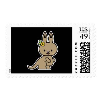 pequeño canguro lindo sello