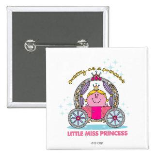 Pequeño carro chispeante de la Srta. princesa el | Chapa Cuadrada 5 Cm