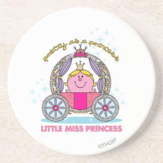 Pequeño carro chispeante de la Srta. princesa el | Posavasos Diseño