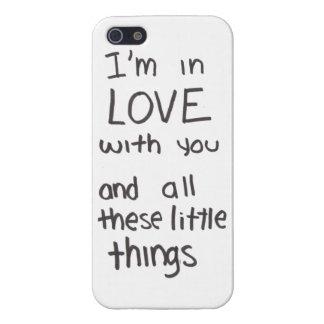 Pequeño caso de las letras de las cosas iPhone 5 fundas