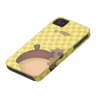 Pequeño caso del amarillo de Blackberry del Racoon Case-Mate iPhone 4 Protectores