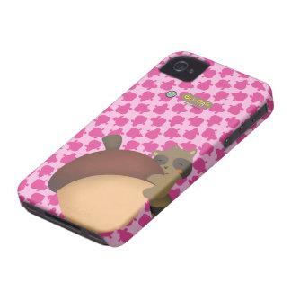 Pequeño caso del rosa de Blackberry del Racoon iPhone 4 Case-Mate Coberturas