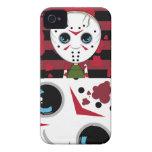 Pequeño caso enmascarado del iphone de Halloween d iPhone 4 Case-Mate Cárcasas