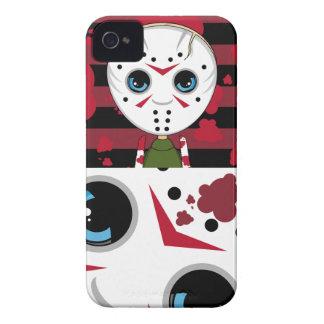 Pequeño caso enmascarado del iphone de Halloween Funda Para iPhone 4 De Case-Mate