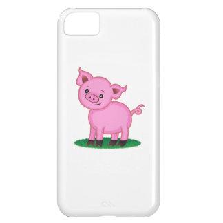 Pequeño caso lindo del iPhone 5C del cerdo Funda Para iPhone 5C