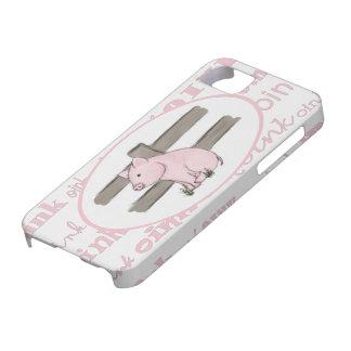 Pequeño caso rosado del iPhone 5 del cochinillo iPhone 5 Carcasa