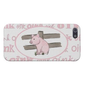 Pequeño caso rosado del iPhone 5 del cochinillo iPhone 5 Fundas