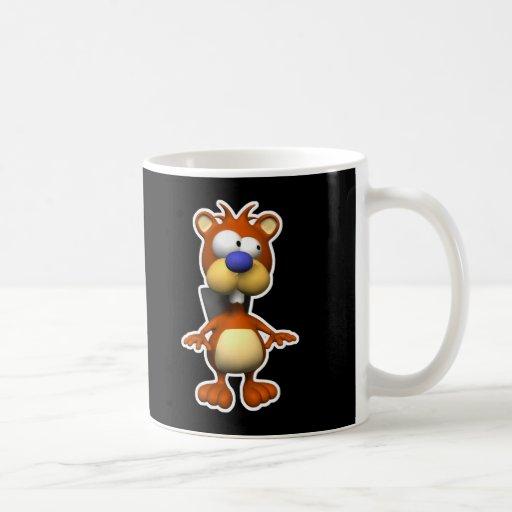 pequeño castor torpe taza de café