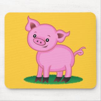 Pequeño cerdo lindo Mousepad Alfombrilla De Raton