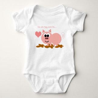 Pequeño cerdo Onsie Tee Shirt