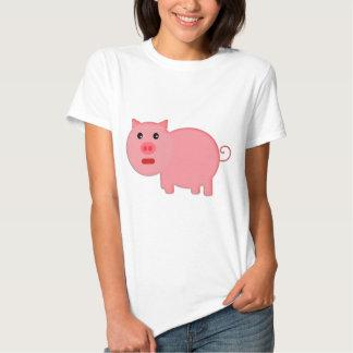 Pequeño cerdo rosado playera