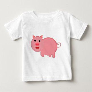Pequeño cerdo rosado playeras