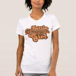 Pequeño chica 08 de Brown Camisetas