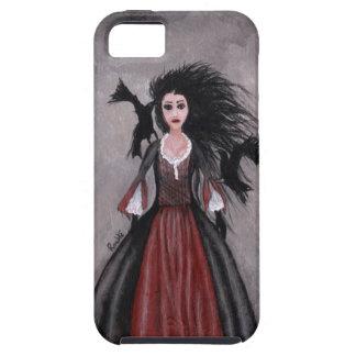 Pequeño chica cabelludo negro + Cuervos iPhone 5 Fundas