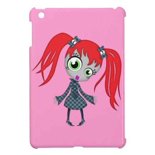 Pequeño chica espeluznante asustadizo iPad mini carcasa