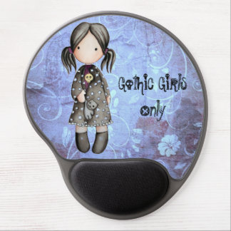 Pequeño chica gótico con el gel Mousepad del cráne Alfombrilla De Raton Con Gel