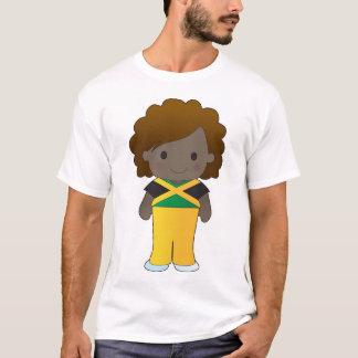 Pequeño chica jamaicano playera
