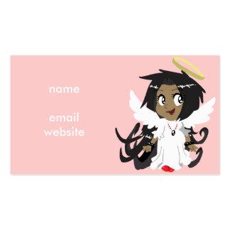 Pequeño chica lindo del ángel tarjetas de visita