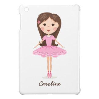 Pequeño chica lindo del dibujo animado de la baila iPad mini cárcasas